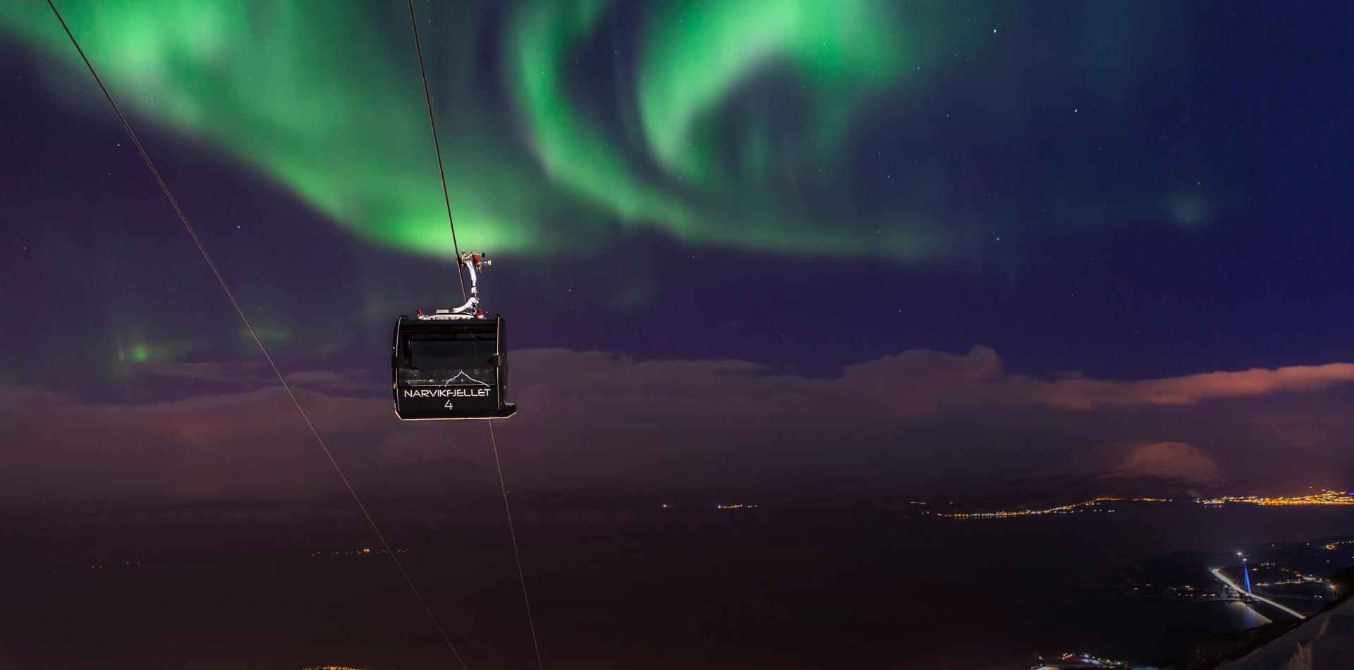 Cable Car Northern Lights